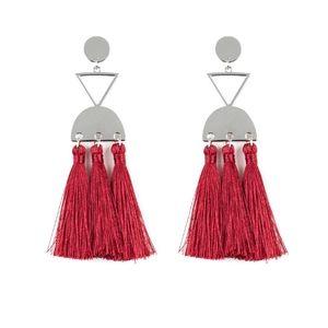 Red earrings paparazzi